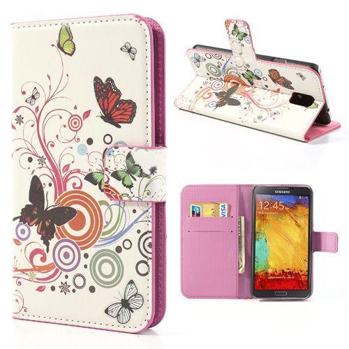 Vlinders booktype hoesje voor de Samsung Galaxy Note 3