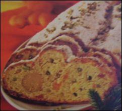 L' Albero di Natale: Dolce di Natale tedesco: Stollen di albicocche