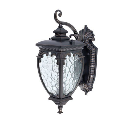 Globe Electric 42698 Ancienne 175 Inch Downward Wall Lantern Light Fixture Oil Rubbed Bronze Outdoor