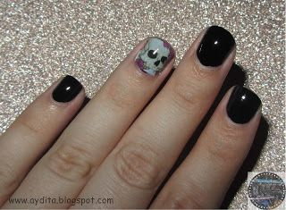 Nails,Nailart,Halloween,DIYHalloween,Belleza,Beauty,Pasoapaso