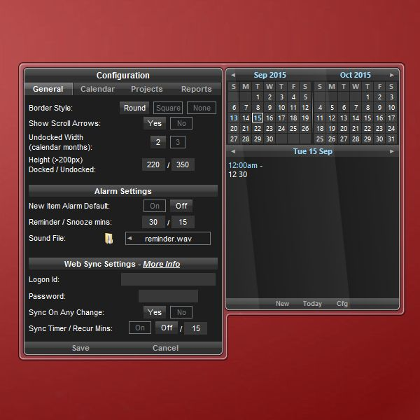 Calendar Planner Desktop Gadget : Desk essentials calendar gadget for windows http