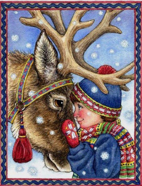 Рисунков, картинки рождество олени