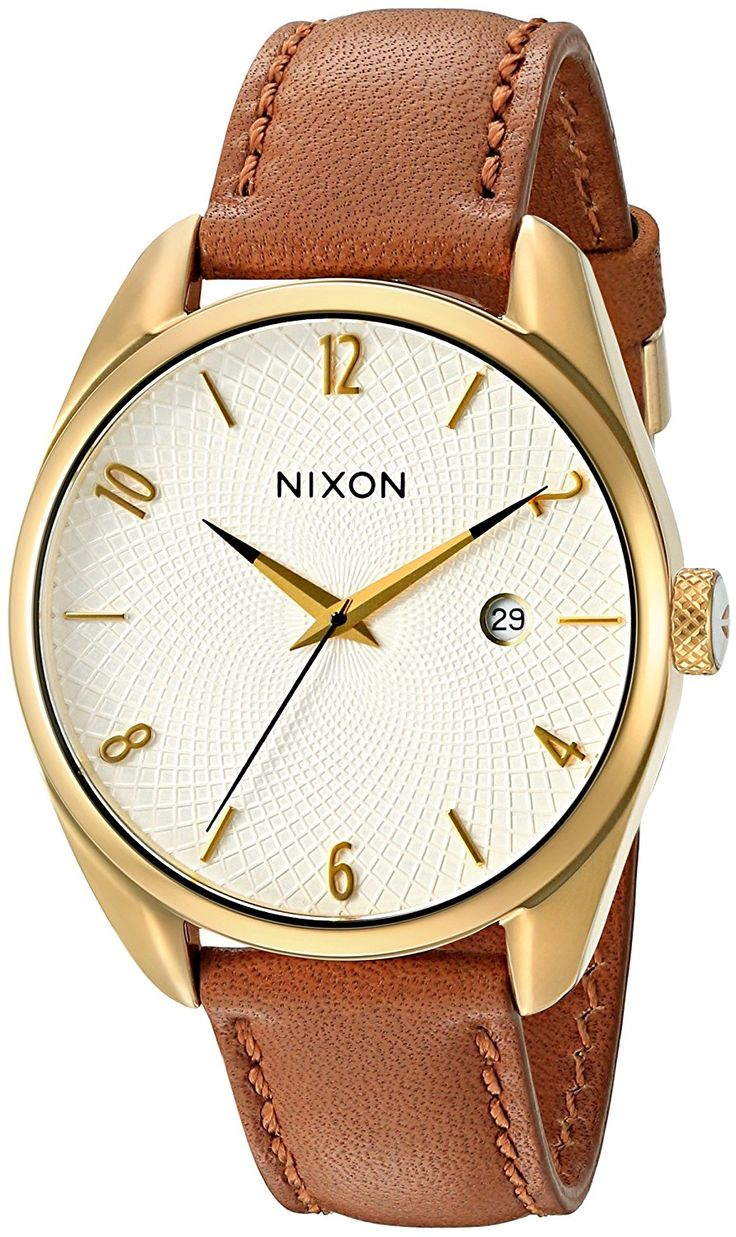 Nixon Women's A4731425-00 Bullet Leather Analog Display Japanese Quartz Brown Watch ** You can find more details by visiting the image link.