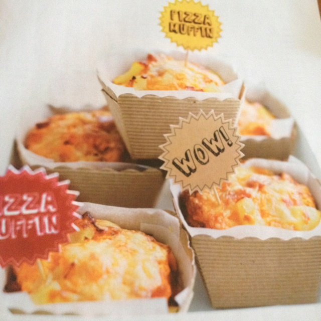Lunch Box idea Donna Hay Pizza Muffins  3C SR Flour 1tspn baking powder 1 1/2C grated cheese 150g ham chopped 2/3c pineapple drained 2/3c veg oil 2Tbspns Tom paste 2 eggs 1C milk  Preheat oven 180•C Place flour baking powder 1C cheese ham pineapple in a bowl & mix to combine Place oil Tom paste egg & milk in a bowl & whisk to combine Add egg mixture to flour mixture & mix until just combined Spoon into 12 x 1/2c capacity. Muffin tins & sprinkle with remaining cheese Bake 30 mins or until…