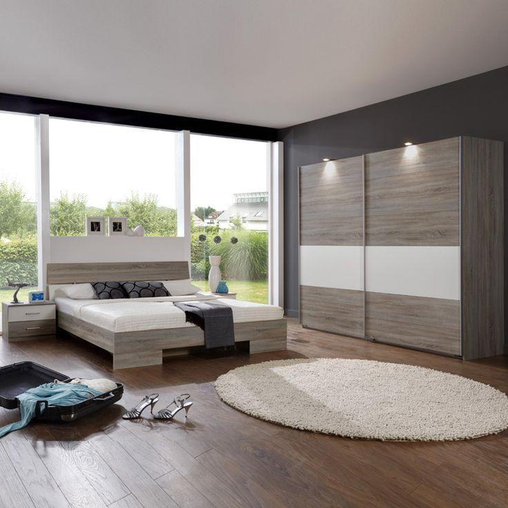 schlafzimmerset 4 tlg liana montana eiche alpinwei jetzt bestellen unter https - Fantastisch Heimwerken Entzuckend Schlafzimmer Set Weiss Idee