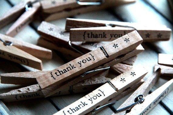 Clothespins  thank you Set of 12 by quotesandnotes on Etsy