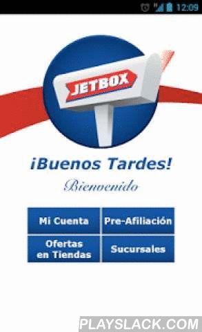 JetBox Costa Rica  Android App - playslack.com ,  La aplicación JetBox provee a los clientes información práctica e inmediata para dar seguimiento a sus paquetes; utilizando una navegación fácil e intuitiva.Utilizando su misma cuenta JetBox y clave de ingreso utilizada en la página web, podrá encontrar varias herramientas que le facilitarán sus compras por internet. Si no posee una cuenta JetBox, visite www.jetbox.com y solicítela.¿QUE PUEDE HACER EN EL APP? - Paquetes: Revisar el estado…