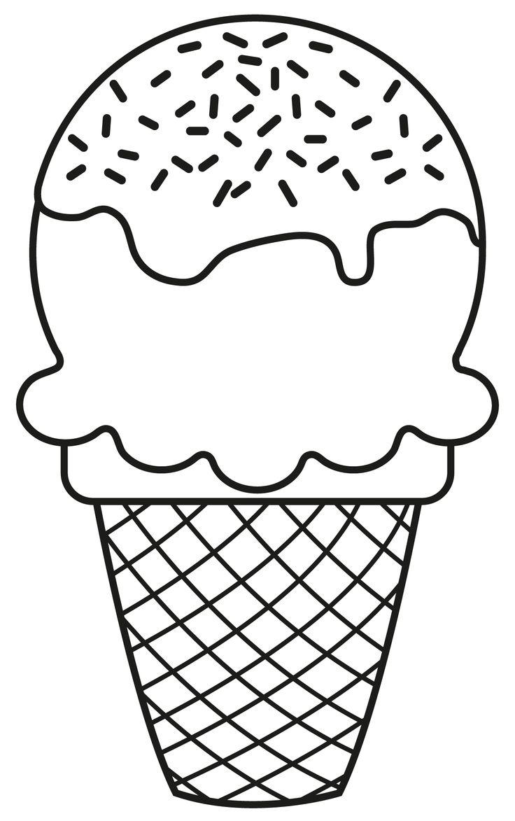 Шаблон мороженого картинки