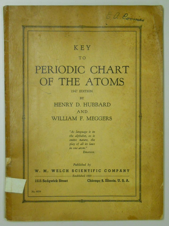 48 best periodic table images on pinterest periodic table key to periodic chart of the atoms 1947 by henry david hubbard periodictable urtaz Gallery