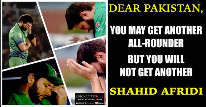 Fans are dejected by the response Pakistani media is showing for Shahid Afridi Cricket Trolls #Cricket #ShahidAfridi Shahid Afridi Official​ #WT20 http://www.crickettrolls.com/2016/03/23/fans-are-dejected-by-the-response-pakistani-media-is-showing-for-shahid-afridi/