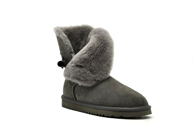 Free Shipping New Arrival 100% Real Fur Classic Mujer Botas Waterproof Genuine Cowhide Leather Snow Boots Winter Shoes for Women - Teepair