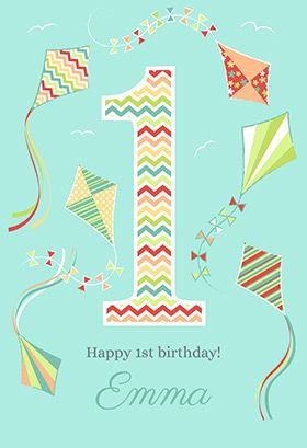 Fun 1st Birthday Printable Card Customize Add Text And Photos