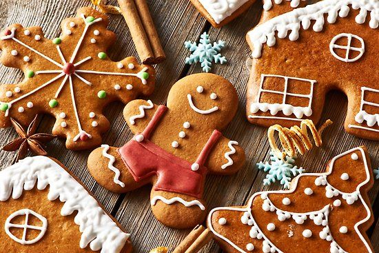 Holiday Gingerbread Cookies Poster By Newburyboutique Posters