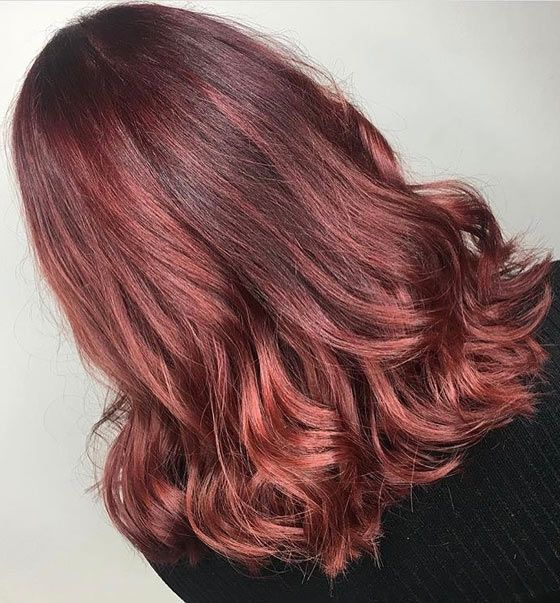 Mahogany Hair Color With Copper Highlights
