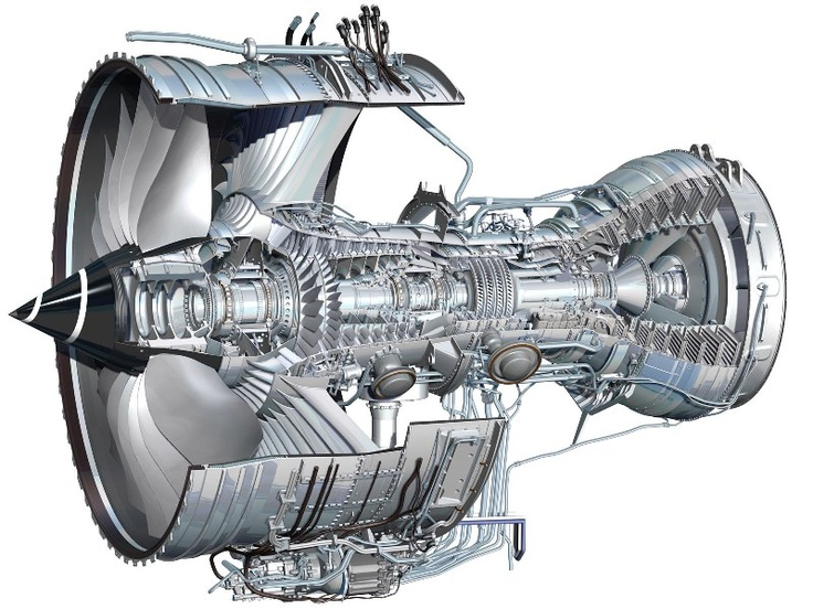 Roll Royce Trent 1000 Turbofan ✈ | Follow civil aviation on AerialTimes. Visit our boards on pinterest.com/aerialtimes or like us on www.facebook.com/aerialtimes