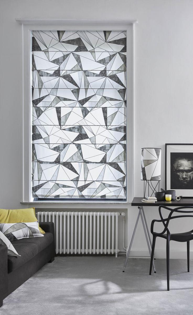 1000 id es sur le th me rideaux g om triques sur pinterest rideaux sur plusieurs niveaux. Black Bedroom Furniture Sets. Home Design Ideas