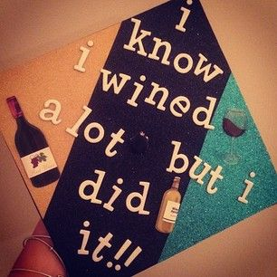 This party animal's cap.   31 Graduation Caps That Absolutely Nailed It-- i can't wait to decorate one