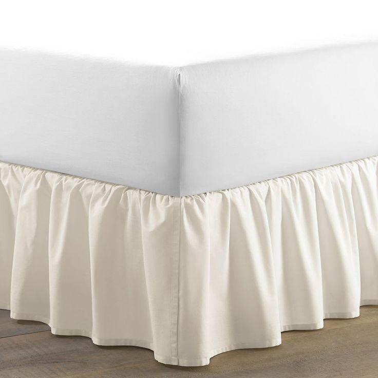 Laura Ashley Lifestyles Ruffled Bed Skirt, Natural