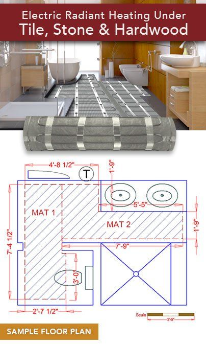Full Coverage Custom Mat Floor Heating