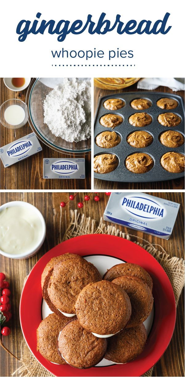 Gingerbread Whoopie Pies – If Christmas is you and your family's favorite season, then why not whip up a homemade treat that features the flavors of the occasion?! These tasty dessert bites are filled with PHILADELPHIA Cream Cheese—making them a guaranteed hit when it comes to festive holiday baking. This recipe may even become a tradition for you and your kids to make for your annual party.