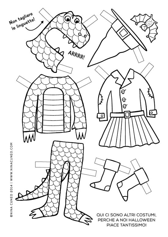 Halloween paper dolls for kids - page 3