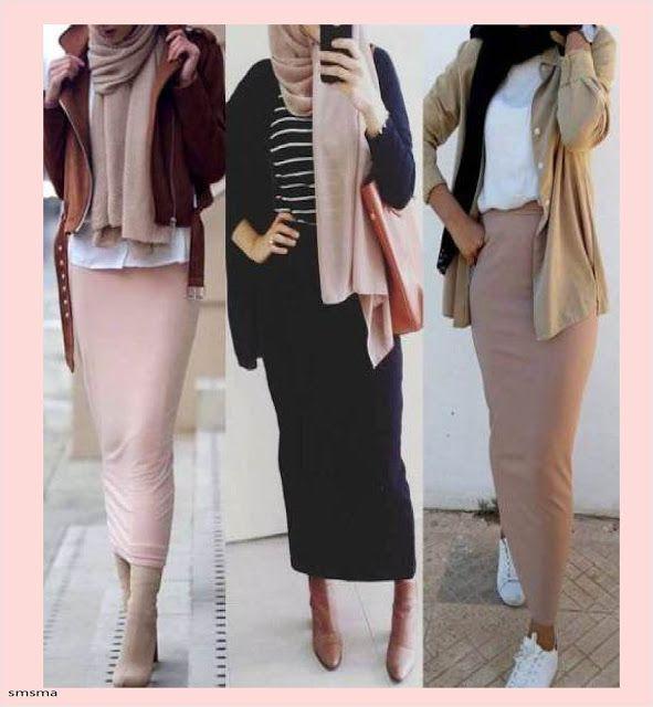 سمسمة سليم ملابس كاجوال للمحجبات موديلات شتاء 2020 Fashion Style Capri Pants