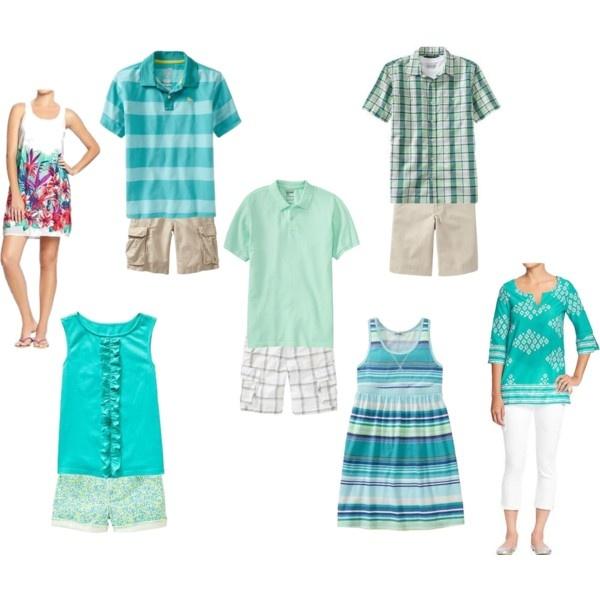 Family beach portrait clothing