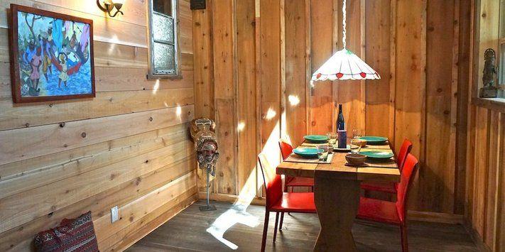 Custom built dining tables.