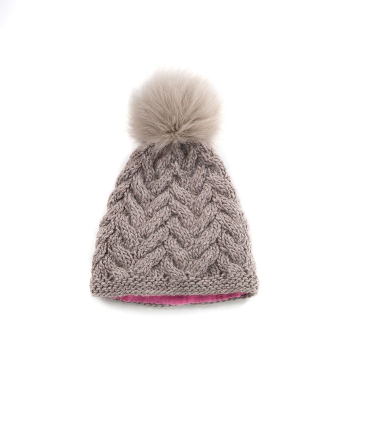 KNIT BEANIE CAP FOR WOMEN in Dove Grey - CABLE KNIT HAT The GŌBLE Women Knit Beanie Cap is a luxurious soft blend of merino wool, alpaca and silk. HAND KNIT IN CANADA GOBLE.CA