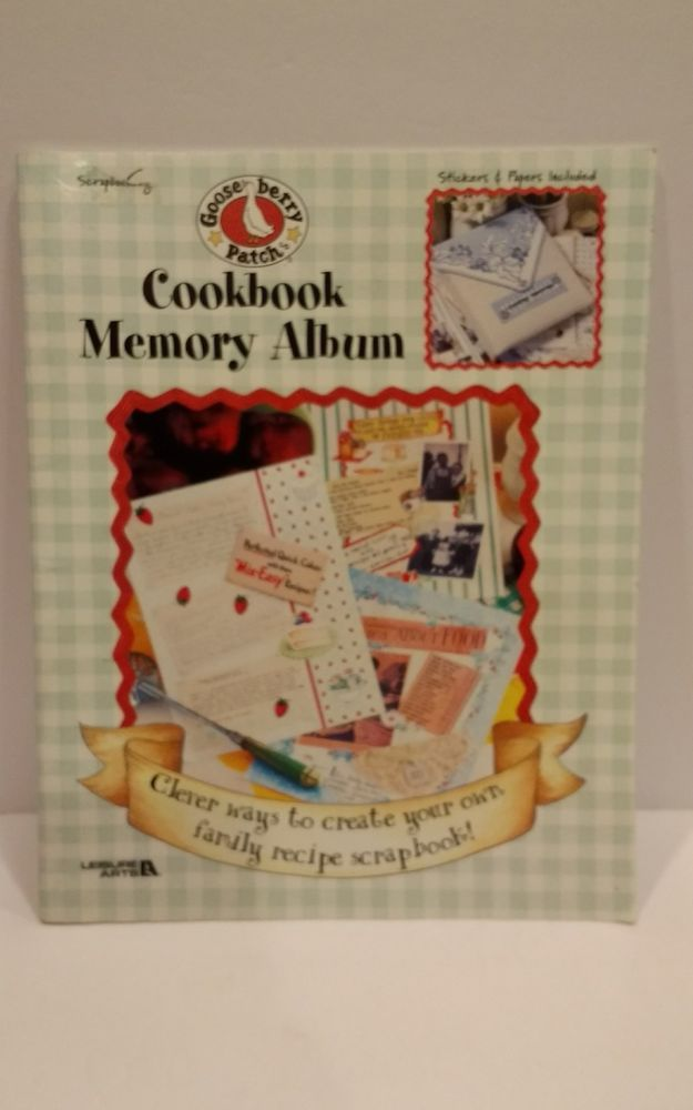 Gooseberry Patch Cookbook Memory Album Book Leisure Arts #3371 Papers Stickers