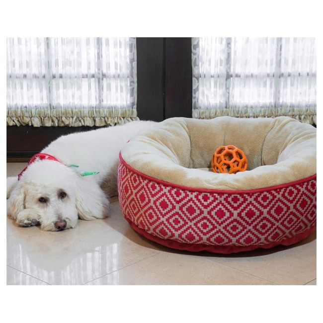kilim donut heated pet bed - Heated Dog Bed