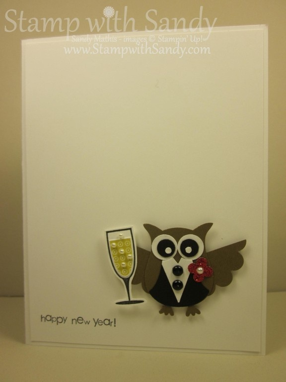 Stamp With Sandy: Happy New Year Owl Two Ways, Stampin' Up