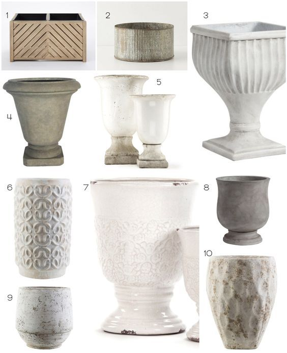 10 of the best modern farmhouse planters for your front porch! The Dempster Logbook.