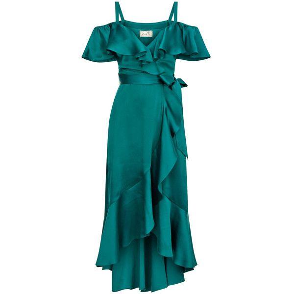 Temperley London Carnation Dress (4,305 PEN) ❤ liked on Polyvore featuring dresses, temperley london dress, temperley london, blue dress and blue color dress