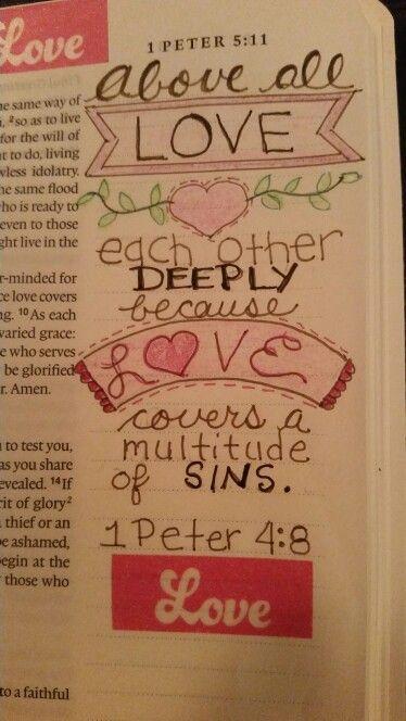 Bible Journaling 1 Peter 4:8