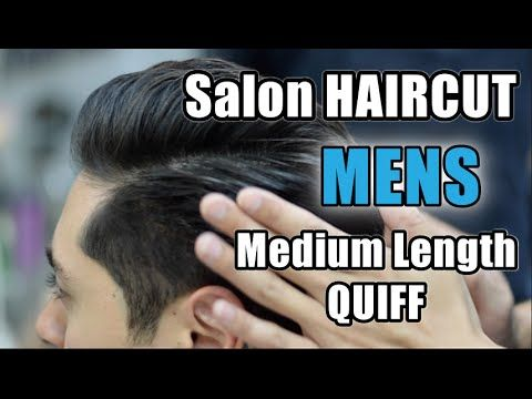 How To Cut A Mens Classic Quiff Hairstyle - On Medium Length Hair