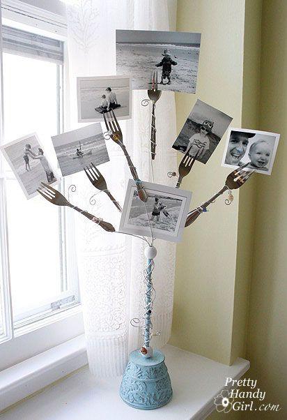Fork Photo Holder: Photo Display, Diy Crafts, Kitchens Pictures, Photo Holders, Pictures Holders, Forks Art, Display Ideas, Forks Photo, Display Photo