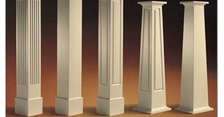 Cómo construir columnas cuadradas de madera. Si deseas agregar columnas a la parte delantera de tu casa sólo necesitas saber algunas cosas sobre la madera, por ejemplo cómo utilizar una sierra de mesa o una caladora. Usar el material que ya tenga el ancho de la columna que desees puede ahorrarte mucho tiempo y energía. Por ejemplo, si utilizas madera sólida (puede ser un 1 por 10) lo único ...