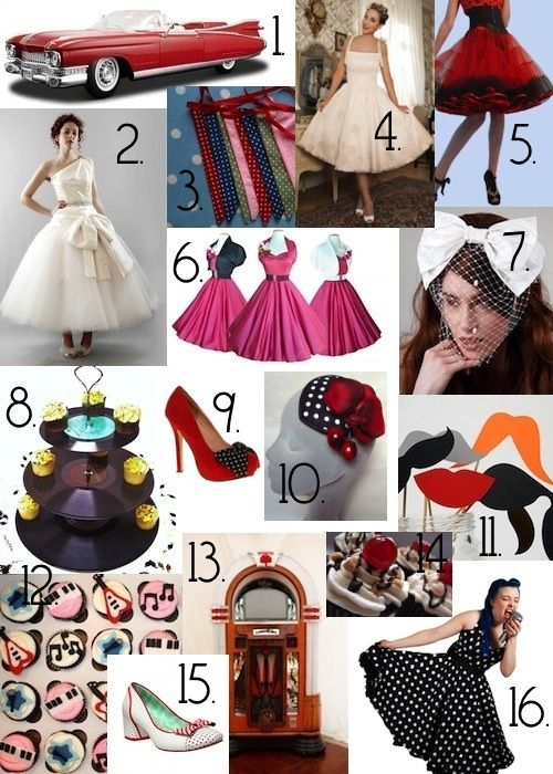 Rockabilly Retro Wedding Ideas