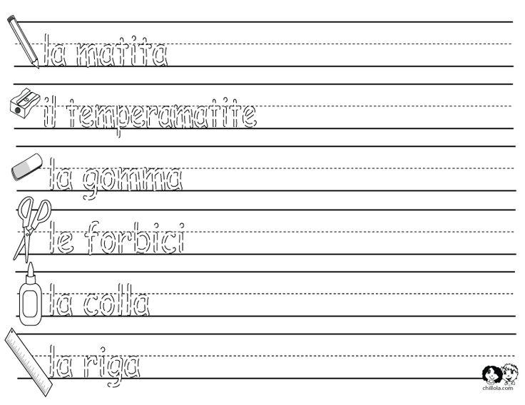 86 best Italian Worksheets for Children - Italiano per Bambini ...