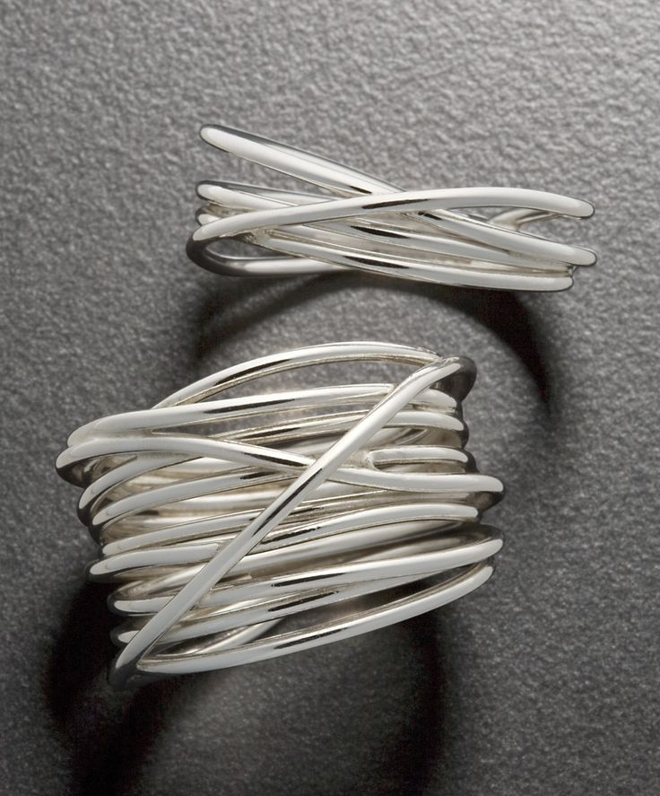 """These Sterling Wrap Rings via CustomMade make me think of the Silver in """"Silver Linings Playbook."""" #OscarPinspiration"""
