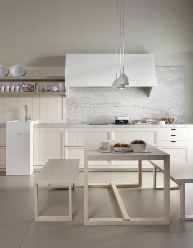 Wooden kitchen BLANCO NATA by Muebles Dica #wood #kitchen