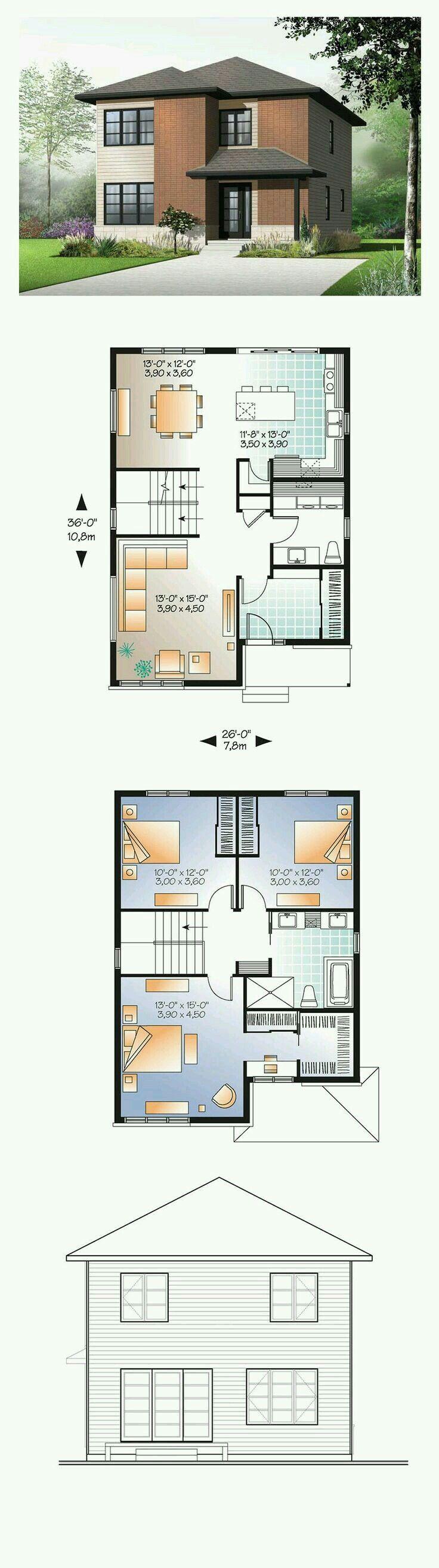 Pi di 25 fantastiche idee su planimetrie di case su for 6 piani casa colonica