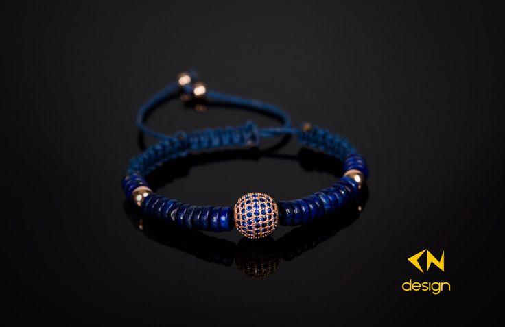 Rose Gold Sterling Silver Balls & Lapis Lazuri Stone Macrame Bracelet by Cndesignofficial on Etsy https://www.etsy.com/listing/256780053/rose-gold-sterling-silver-balls-lapis
