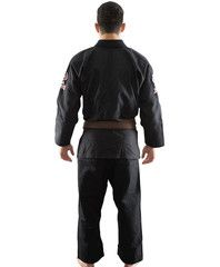 Atama Black Single Weave Kimono Jiu Jitsu Training and Competition
