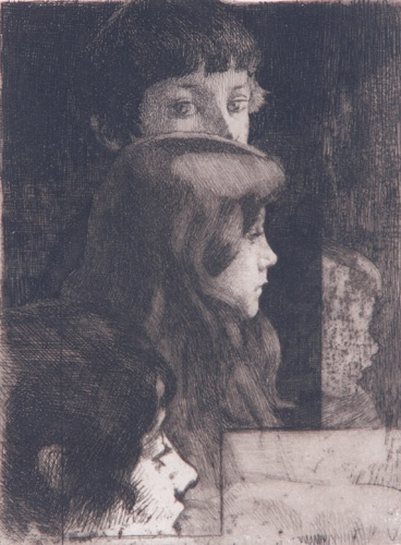 Paul Albert Besnard (French, 1845-1934); Untitled (Four Children); Etching and aquatint