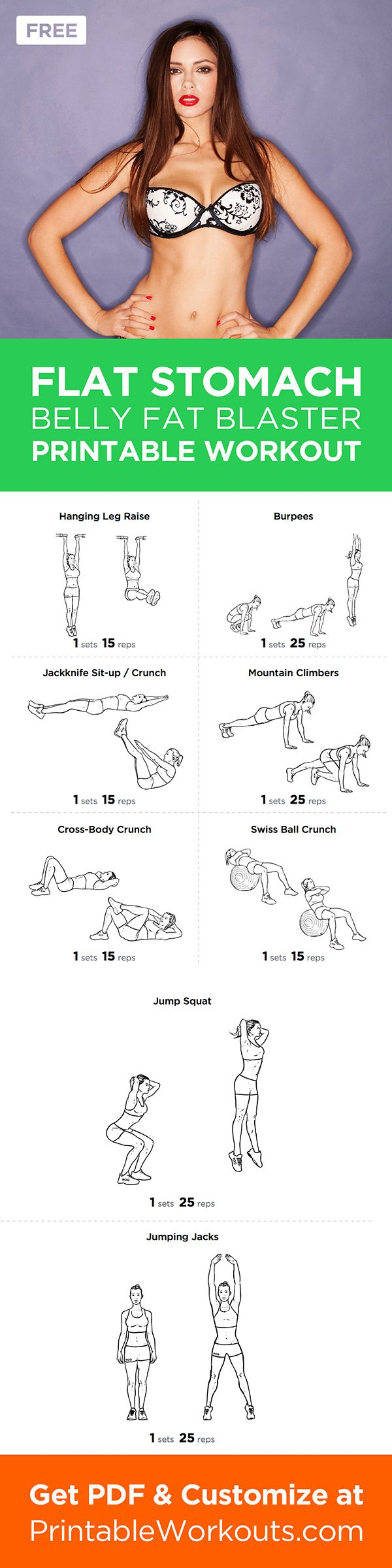 Looking to firm and flatten your stomach for the summer months ahead? This workout will do all that and burn fat at once. #workout