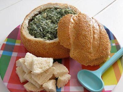 Spinach Dip in a Cob Loaf Recipe