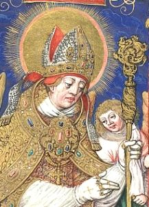 Saint Stanislaus of Cracow. Born to the nobility, when he came of age he gave his inheritance to the poor and became priest, canon and bishop of Cracow, Poland. Murdered while celebrating Mass.