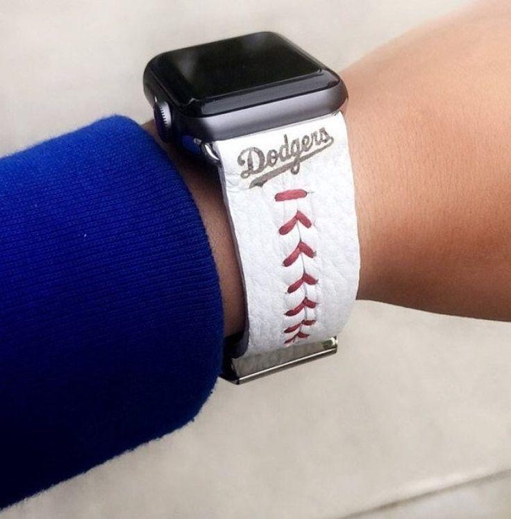 Baseball watch band for apple samsung fitbit michael kors